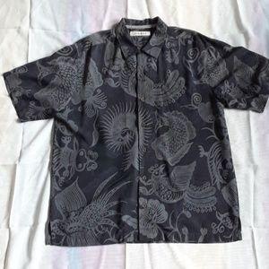 Mens Tommy Bahama Short Sleeve Camp Shirt 80% Silk